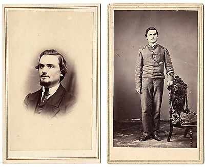 2 Civil War CDV's Union Soldier