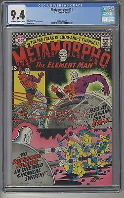 METAMORPHO #11 CGC 9.4 OWW Pages DC Silver Age NM