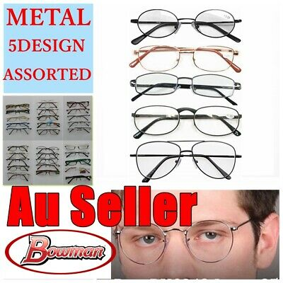 5 Pairs Metal Frame Assorted Design Magnifying Reading Glasses Mens Ladies Bulk