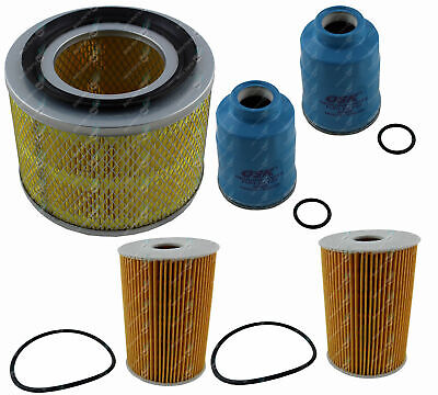 Oil Air Fuel Filter DOUBLE Service Kit Nissan Patrol GU IV Diesel ZD30D 04-07