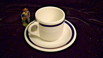 Union Pacific Railroad China Blue & Gold 49er's  Demitasse Cup & Saucer Lot#7384