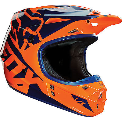 Fox 2016 – V1 Race Orange/Blue Helmet - Large