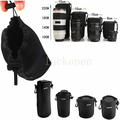 Super Matin Neoprene waterproof Soft Camera Lens Pouch bag Case Size- S M L XL#@