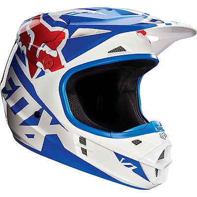 Fox 2016 – V1 Race Blue Helmet - X-Large