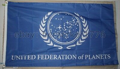 United Federation of Planets Star Trek 3' x 5' Flag Banner - USA Seller Shipper