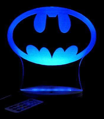 Batman Gotham Sky Lite Personalized Name Led Night Light Colour Change Kids Room
