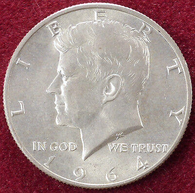 United States 0.900 Silver Half Dollar 1964 JFK (in Plastic Case)
