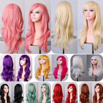Hot Natural Curly  Wig Wavy Fancy Dress Fashion Womens Ladies Hair Wig Cosplay