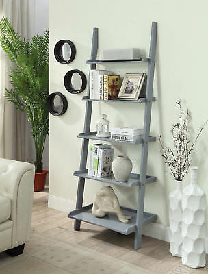 Convenience Concepts 8043391GY American Heritage Bookshelf Ladder  - Gray NEW