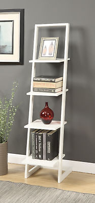 Convenience Concepts 131499W 4 Tier Ladder Bookshelf - White NEW