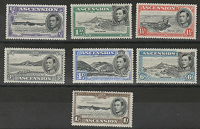 Ascension 1938 Kgvi Pictorial Range To 1/- Mnh ** Perf 13