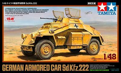 Tamiya 89777 1/48 Scale Model Kit WWII German 4-Wheeled Armored Car Sd.Kfz 222