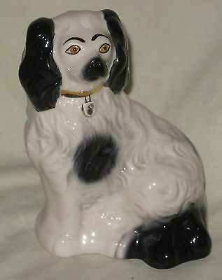 MINT Beswick Black & White Old English Spaniel Mantlepiece Dog - 1378/6