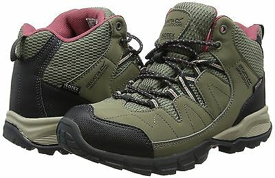 Regatta Lady Holcombe Mid Walking Trail Waterproof Boots Light Clove Rwf459