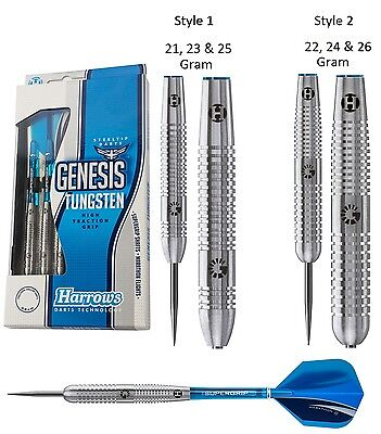 Harrows Genesis Tungsten Steel Tip Darts - Choose 21g 22g 23g 24g 25g or 26g