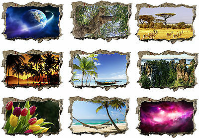 DESIGN Wandloch XXL Wandtattoo Wandsticker 3D-Optik Aufkleber Sticker Dekor