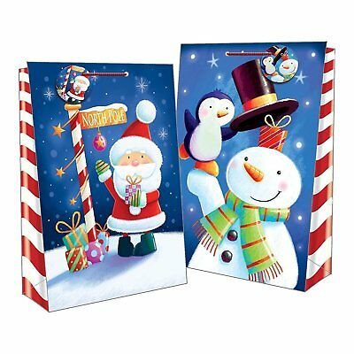 2 Extra Large Christmas Cute Jumbo Bag Gift Kids Paper Xmas Party Present Tags