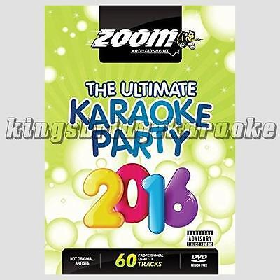 Zoom Karaoke DVD - Ultimate Karaoke Party 2016. 60 Tracks/2 DVDs for DVD Player