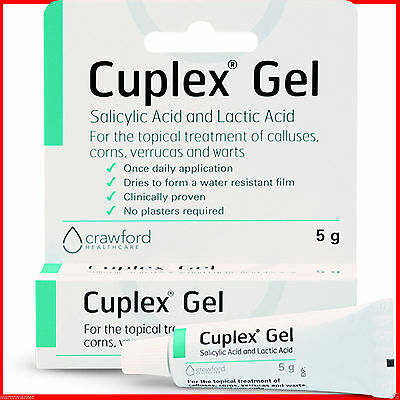Verruca Treatment Gel 5g Cuplex Fast Effective Corns Wart Calluses Removal *NEW*