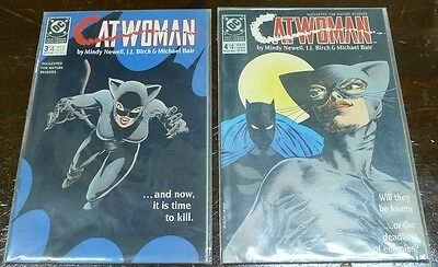1989 Lot of 2 CATWOMAN #3 & 4! See Photos and Description!