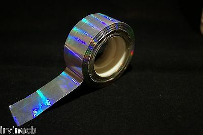 Rainbow Holographic Craft Tape Arts & Crafts Christmas wrapping Fishing - Large