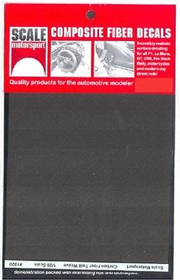 Scale Motorsport 1/20 Comp. Carbon Fiber Decal Twill Weave Black on Pewter 1020