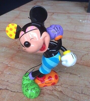 Disney Britto Laughing Mickey Mouse Showcase Collection New in Box