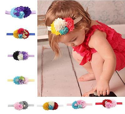 Girl Baby Kids Headband Toddler Lace Bow Flower Hair Band Accessories Headwear