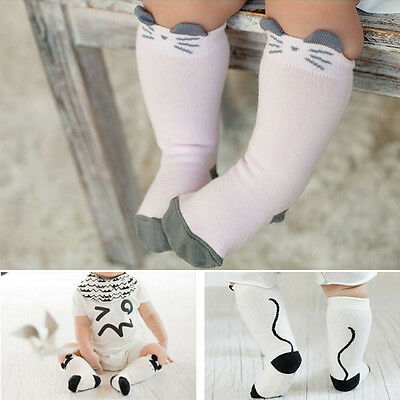 Baby Kids Toddlers Girls Knee High Socks Tights Leg Warmer Stockings For Age 1-4