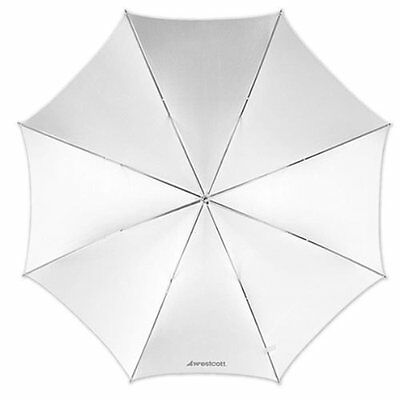 Westcott 43 Optical White Satin Collapsible Umbrella