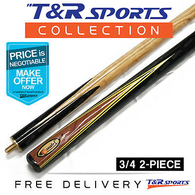 """1x 3/4 2-Piece Jepiter Snooker Cue 57"""" 9.5mm Tip for Pool Billiard Free Delivery"""