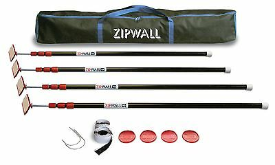 ZipWall 10 ZP4 ZipPole 10-Foot Spring-Loaded Poles for Dust Barriers,4-Pack, HVI
