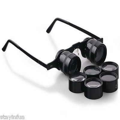 BIJIA 2.5X – 15X Adjustable Glasses Shaped Low Vision Telescope with 5 Size Lens