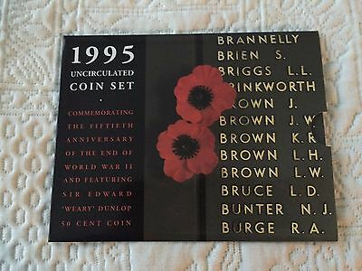 Uncirculated Coin Set 1995 Commemorating 50th Anniversary of end of WWII