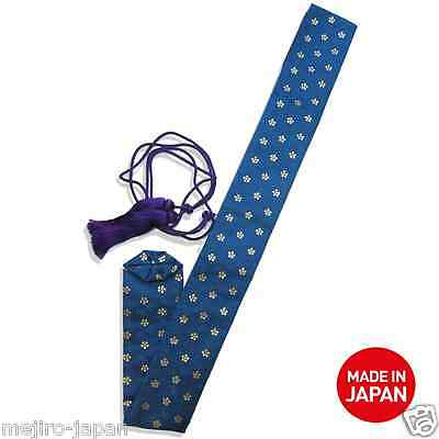 Long-Sized Japanese Brocade Bag and Plastic Sleeve for Shakuhachi from Japan!