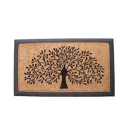 Abbott Collection 35-RFW/3469 Coir and Rubber Tree of Life Door Mat, Multi CXX