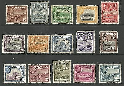 ANTIGUA SG120a-134 THE 1953 QE2 SET OF 15 FINE CDS USED CAT £50
