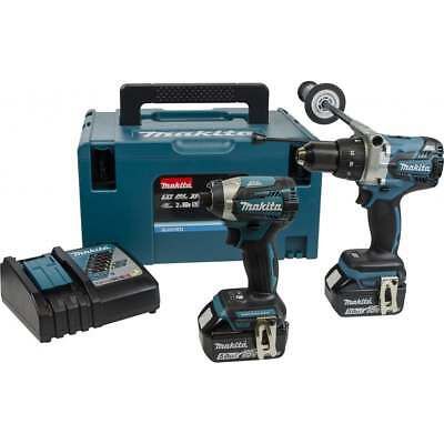 Makita 18v Twin Pack DLX2176TJ Brushless DHP481 & DTD154 2 5.0ah Batts charger
