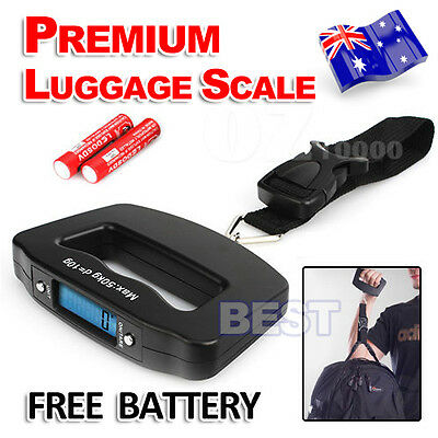 Digital Luggage Scale Electronic Portable 50KG Hanging Travel Weighing Suitcase