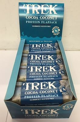 Trek Bars Protein Flapjack - Cocoa Coconut  50g - Full Box 16 Bars