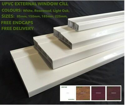 UPVC External Window Cill, Door Cill, 4 SIZES & 3 COLOURS AVALABLE