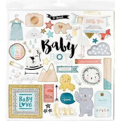 Little You Baby Boy Or Girl Chipboard Stickers Papercraft Cardmaking Craft