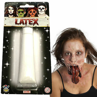 Liquid Latex Halloween Special Makeup Blood Zombie Flesh Scars Skin Adhesive