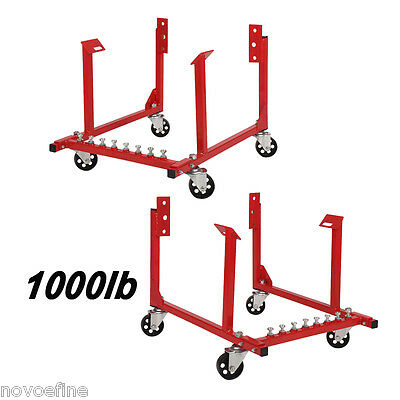 2X 1000lb Engine Cradle Stand for Chevrolet Chevy Chrysler Dolly Mover w/ Wheels