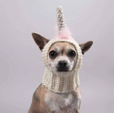 The Unicorn hat, snood for your dog. Size S. Chihuahua, Yorkie. Dog Hat.