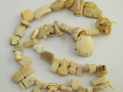 Ancient Shell/Bone Beads Strand Roman 200 BC    #BE1822