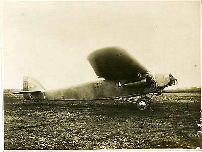 """Avion Trimoteur S.P.C.A. VII Appareil Postal 1929"" Photo originale S.P.C.A."