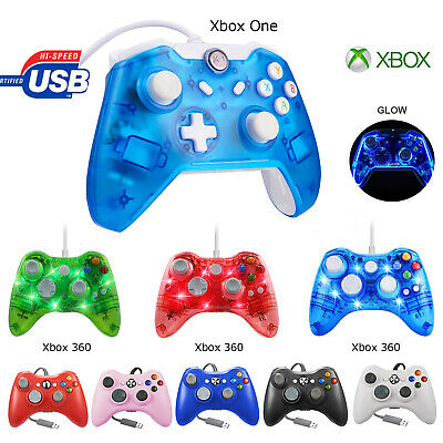 For Xbox One/ Xbox 360 &PC Video Games Glow Light USB Wired Remote Controller