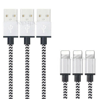 Cable Pour Iphone X 8 7 6 5 Plus Ipad Charger Usb Metal Renforcé Blanc 1M 2M 3M