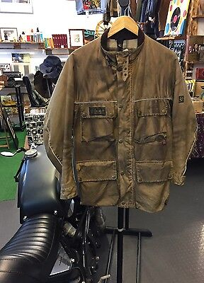 Giacca Belstaff Beige Dirty Effect Vintage Taglia Size M